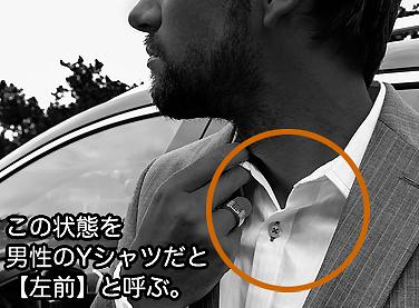 男性のYシャツは左前