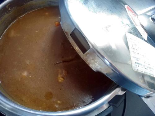 圧力鍋で作ったカレー
