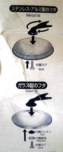 鍋フタつまみの説明