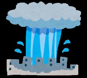 ゲリラ豪雨の積乱雲