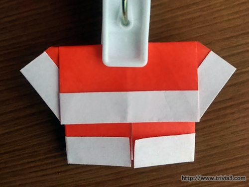 折り紙でサンタクロースの作り方