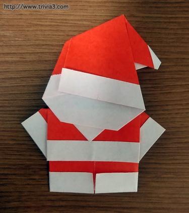 折り紙でサンタクロース