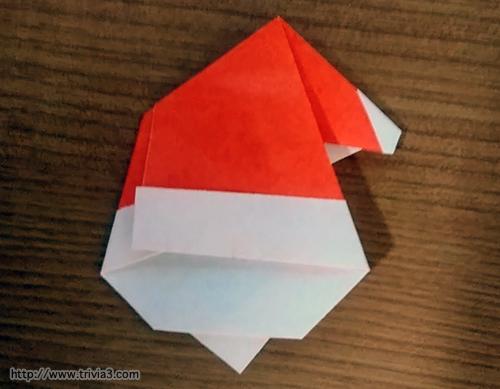 折り紙でサンタさん