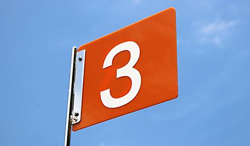 ナンバー3の旗