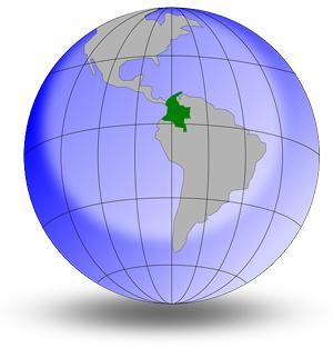 コロンビア 世界地図
