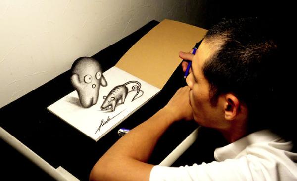 3Dアートの永井秀幸さん