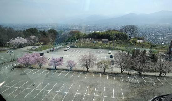 茶臼山動物園のモノレールからのからの眺め