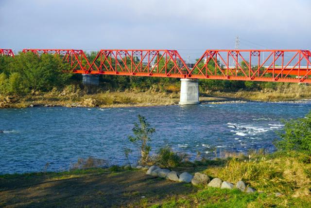 上田電鉄の赤い鉄橋